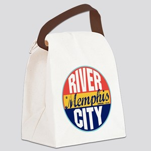 Memphis Vintage Label W Canvas Lunch Bag