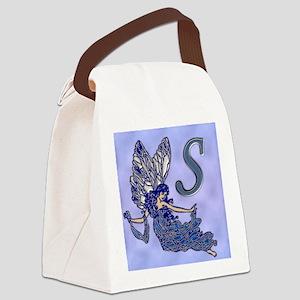 Blue Fairy Monogram BS Canvas Lunch Bag