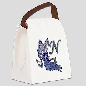 Blue Fairy Monogram N Canvas Lunch Bag