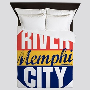 Memphis Vintage Label B Queen Duvet