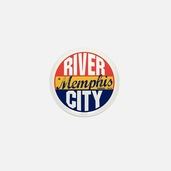 Memphis Vintage Label B Mini Button