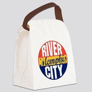 Memphis Vintage Label B Canvas Lunch Bag