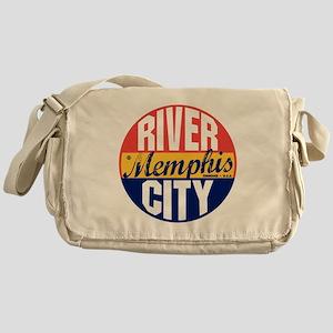 Memphis Vintage Label B Messenger Bag