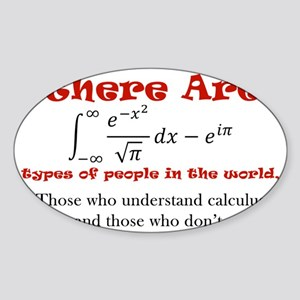 CalculusLight Sticker (Oval)