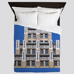 Art Deco Architecture Queen Duvet