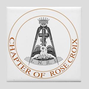 Rose Croix Tile Coaster