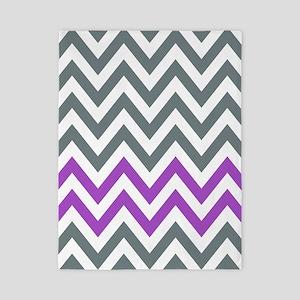 Grey and Purple chevrons pattern 1d Twin Duvet