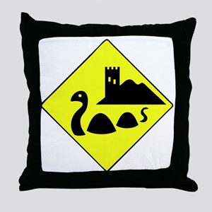nessie copy Throw Pillow