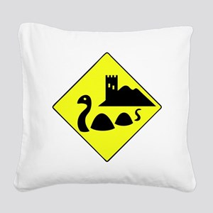 nessie copy Square Canvas Pillow