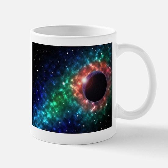 Space scenery globe planets nebula dusts star Mugs