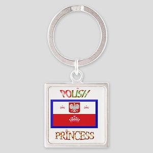 POLISH-2 Square Keychain