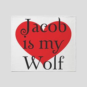 jacobwolf2 copy Throw Blanket