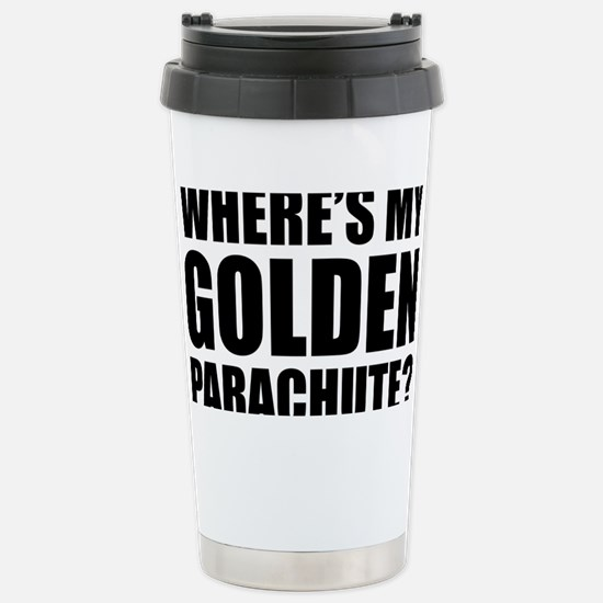 golden Parachute Stainless Steel Travel Mug