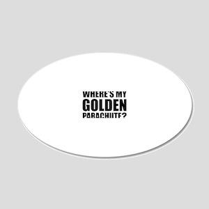 golden Parachute 20x12 Oval Wall Decal