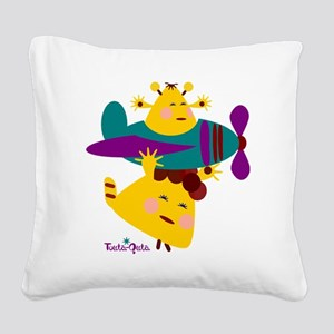 born-to-fly-yellow2 Square Canvas Pillow