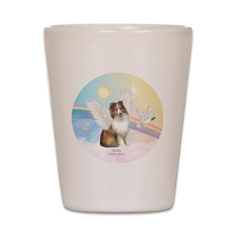 R-Clouds-Sheltie4-Shelly-1998-2011 Shot Glass