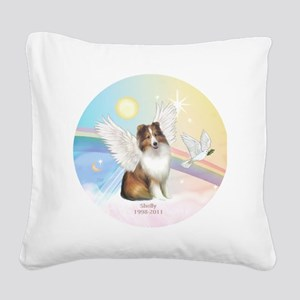 R-Clouds-Sheltie4-Shelly-1998 Square Canvas Pillow