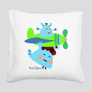 born-to-fly-green2 Square Canvas Pillow