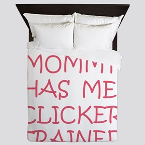 my mommy pink  tran Queen Duvet