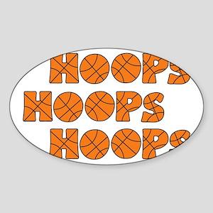 wh orange, Hoops Hoops Sticker (Oval)