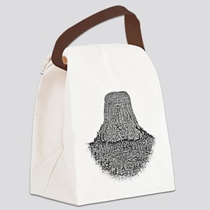 B@W Devils Tower Canvas Lunch Bag