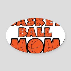 orange Mom Oval Car Magnet