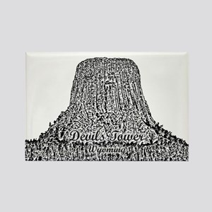 B@w Devils Tower Rectangle Magnet Magnets