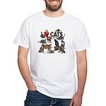 """White T-Shirt """"I Love Cats"""""""