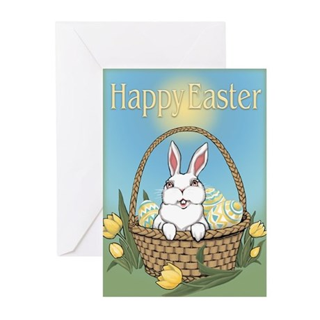 Easter Bunny Cute Pocket Greeting Cards (Pk of 10)