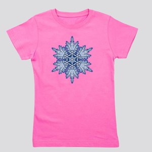 Snowflake Designs - 011 - transparent Girl's Tee