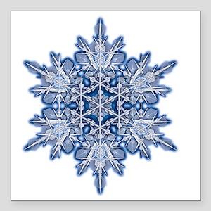 "Snowflake Designs - 011  Square Car Magnet 3"" x 3"""