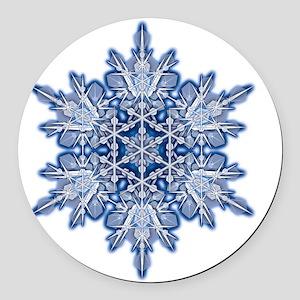 Snowflake Designs - 011 - transpa Round Car Magnet