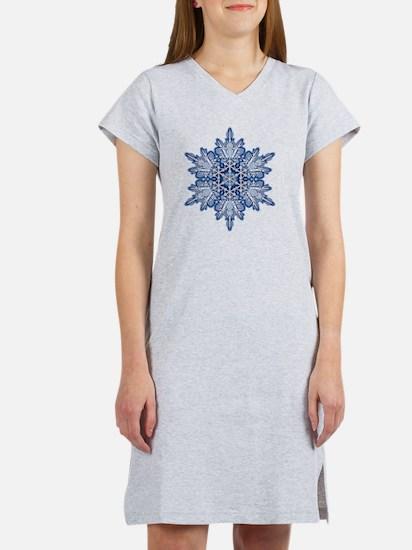Snowflake Designs - 011 - trans Women's Nightshirt