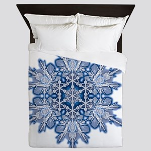 Snowflake Designs - 011 - transparent Queen Duvet