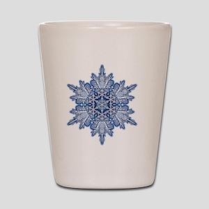 Snowflake Designs - 011 - transparent Shot Glass