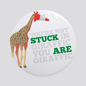 animals-giraffic-full Round Ornament
