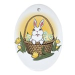 Easter Bunny Cute Pocket Rabbit Oval Ornament