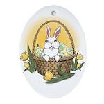 Pocket Easter Bunny Oval Ornament