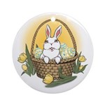 Easter Bunny Cute Pocket Rabbit Round Ornament