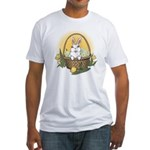 Easter Bunny Cute Pocket Rabbit Fitted T-Shirt
