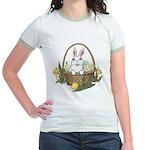 Pocket Easter Bunny Jr. Ringer T-Shirt