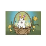 Easter Bunny Cute Pocket Rabbit Rectangle Magnet