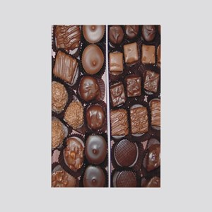 Chocolate Candy Flip Flops Rectangle Magnet