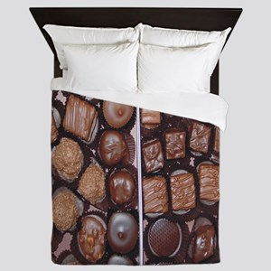 Chocolate Candy Flip Flops Queen Duvet
