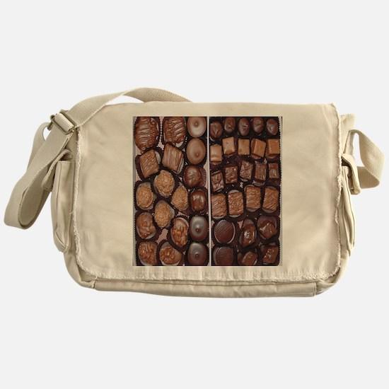 Chocolate Candy Flip Flops Messenger Bag