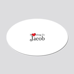 heartjacob 20x12 Oval Wall Decal