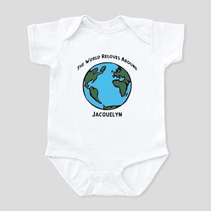 Revolves around Jacquelyn Infant Bodysuit