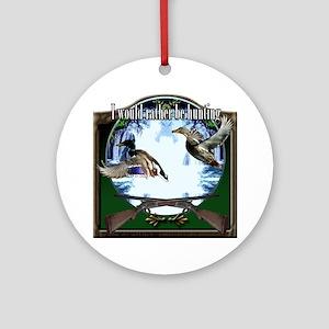 Duck hunter Round Ornament