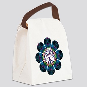 Peace Flower - Festival Canvas Lunch Bag