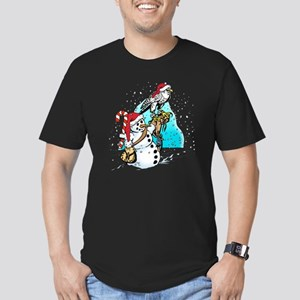 gyr-snowman-hat Men's Fitted T-Shirt (dark)